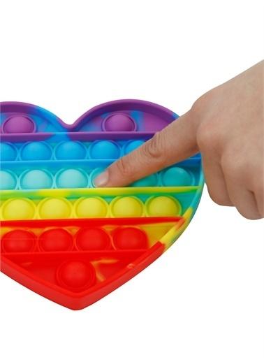 Can Oyuncak Can Oyuncak Özel Pop It Bitmeyen Balon Patlatma Oyunu / Gökkuşağı Karışık Renkli Kalp Renkli